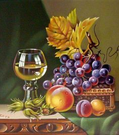 new ideas fruit painting oil pintura Fruit Painting, Fabric Painting, Wine Art, Still Life Art, 5d Diamond Painting, Fruit Art, Pictures To Paint, Art Pictures, Embroidery Kits