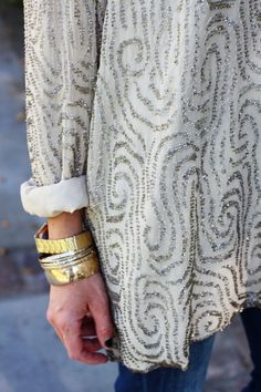Long sleeve sparkled top