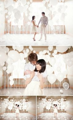 engagement shoot with balloons...i love this as a proposal idea