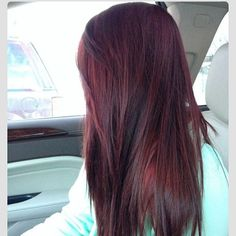 Dark Red Hair Color-dark red and red hair colors - New Hair Hair Colorful, Hair Color And Cut, Hair Highlights, Color Highlights, Caramel Highlights, Chunky Highlights, Peekaboo Highlights, Black Hair Burgundy Highlights, Golden Highlights