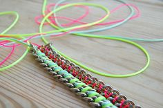 DIY bracelet neon Chouette Fille#Repin By:Pinterest++ for iPad#