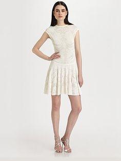 Lace Dress by Alexander McQueen #Dress #Lace_Dress #Alesander_McQueen