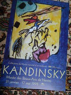 french poster. AFFICHE exposition KANDINSKY par vintagemadeinFRANCE