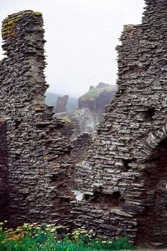 Ruins of the Norman castle at Tintagel.