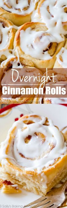 Wake up to fresh, bakery-style, gooey homemade cinnamon rolls! These are so easy to make ahead of time.