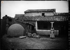 casa campidanese. old house typical of the Campidano area, Sardinia, Italy. The ball on the left is an oven for home baking. (mainly bread).