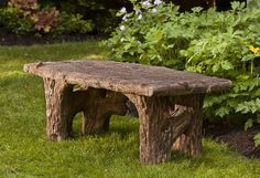 Campania International Faux Bois Bench