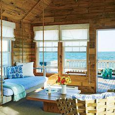 Rustic Beach House Living Room - 5 Tiny Coastal Cottages - Coastal Living Mobile