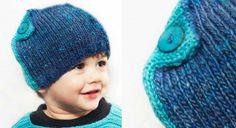 Bonnet turquoise mois - www. Pull Bebe, Baby Couture, Kids Hats, Baby Knitting Patterns, Knitting Ideas, Yarn Needle, Baby Hats, Knitted Hats, Beanie