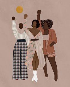 Black Love Art, Black Girl Art, Black Girl Magic, Art Girl, Black Art Painting, Black Artwork, Et Wallpaper, Posca Art, Feminist Art
