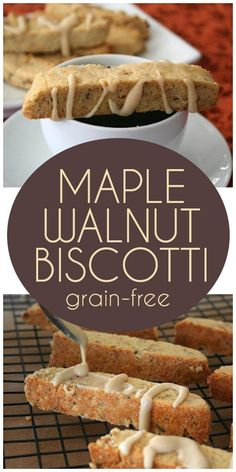 Keto Maple Walnut Biscotti recipe - deliciously crisp with a hint of maple extract. Easy and perfect for the holidays! Keto Maple Walnut Biscotti recipe - deliciously crisp with a hint of maple extract. Easy and perfect for the holidays! Biscotti Cookies, Keto Cookies, Gluten Free Cookies, Gluten Free Biscotti Recipe, Almond Cookies, Chocolate Cookies, Almond Flour Biscotti Recipe, Gluten Free Baking, Gluten Free Recipes