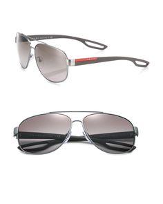 91dcda75b58c Men s Metallic 63mm Rectangle Sunglasses