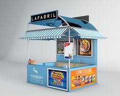 kiosko para la favorita, multimarca Kiosk Design, Display Design, Booth Design, Store Design, Exhibition Stall, Exhibition Stand Design, Stall Decorations, Food Cart Design, Food Kiosk