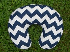 Navy Chevron Boppy Cover with Zipper - Available in 16 colors - Riley Blake. $20.00, via Etsy.