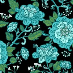 Horisontti x Floral and Botanical Wallpaper Roll Vallila Colour: Blue Home Wallpaper, Wallpaper Roll, Turquoise Wallpaper, Earthy Style, Botanical Wallpaper, True Colors, Monet, Artsy, Prints