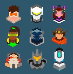 """labenterpix: """" Overwatch Characters #1 The brand new Blizzard game is almost here! Here are 9 characters, try to guess who they all are! If you want more, like and share! """""""