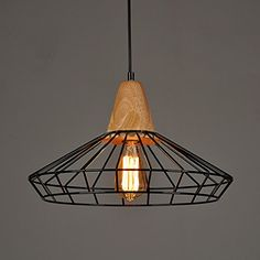 WinSoon Industrial DIY Metal Ceiling Lamp Light Vintage Pendant Lighting Wooden Head NEW *** Insider's special review you can't miss. Read more  : home diy garden