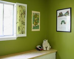 love this shade of green - Benjamin Moore's Jalapeno Popper