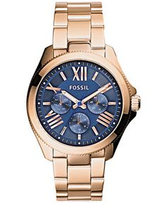 Fossil Women's Cecile Rose Gold-Tone Stainless Steel Bracelet Watch 40mm AM4566