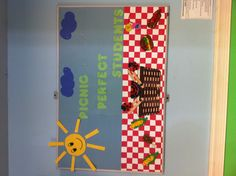 Picnic perfect students done by my toddler class! First board of the summer Picnic Theme, Camping Theme, Camping Ideas, Toddler Class, Toddler Preschool, Picnic Bulletin Boards, Playgroup Activities, Sunday School Classroom, Infant Lesson Plans