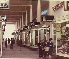 City Arcade, Coventry. When I went for my interview at Coventry Planning Dept.in 1975 I was asked which part of the new City Centre I liked best. This arcade was my reply. Loved the scale of it. It was alive and vibrant at the time. A little tired now.