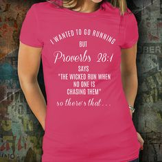 Proverbs 28:1 Workout Apparel Runner Gift Track Gift