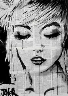 "Saatchi Art Artist Loui Jover; Drawing, ""ivy"" #art"