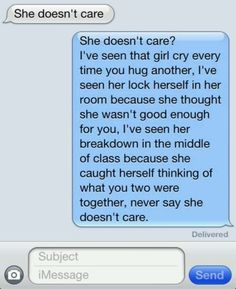 .pretty much... cant you tell i love you! i want you way more then her.. <3