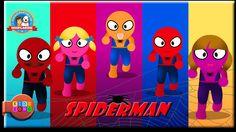 Spiderman Superhero Finger Family Song - Nursery Rhymes