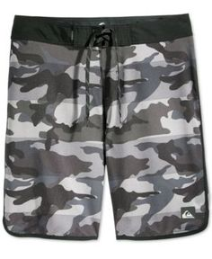 39434f93cb A bold camo print brings plenty of style to these swim shorts from  Quiksilver.