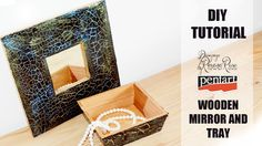 DIY Tutorial  /  Black Mirror and tray /  DIY Vintage Mirror /art and craft