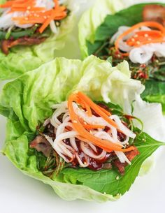 Pork Belly Lettuce Wraps A trip to the Korean market is always fun when I'm getting ready to entertain or simply preparing a weeknight meal. We love Korean food at our house, and pork belly lettuce wraps are always a fun and active way to serve delicious, Lettuce Wrap Recipes, Lettuce Wraps, Food Trucks, Asian Recipes, Healthy Recipes, Ethnic Recipes, Dump Recipes, Meal Recipes, Healthy Foods