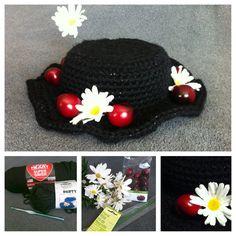 Mary Poppins Crochet Hat