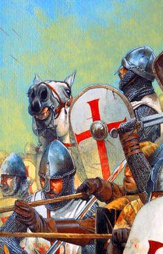 Templar crusaders in battle