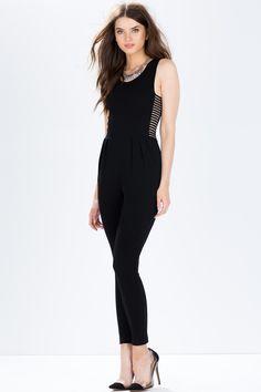 Комбинезон Размеры: S, M, L Цвет: черный Цена: 2210 руб.  #одежда #женщинам #комбинезоны #коопт