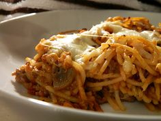 Jenny's Cookbook: Baked Spaghetti - Crazy Cooking Challenge
