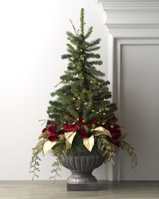 Mixed pine Christmas tree in Urn...