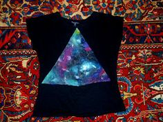 DIY Tries: Tutorial: Hipster Galaxy Print Shirt DIY!!