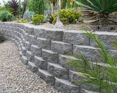 Retaining wall instructions also http://www.dannylipford.com/how-to-build-a-stackable-block-retaining-wall/