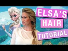 Elsa's Hair Tutorial from Disney's FROZEN - Elsa's Braid (Frozen Friday 5) - Just in time for Halloween learn how to do Elsa's braid.