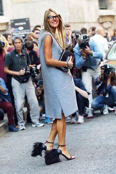 AdR & her amazing Fendi shoes. Paris. #AnnaDelloRusso