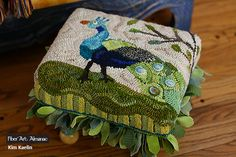 Kim Kaelin: getting hooked rugs up off the floor! | Midwest Fiber ...