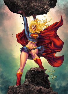 The Comic Ninja - Supergirl by Stephen Jorge Segovia Arte Dc Comics, Comic Book Heroes, Comic Books Art, Comic Art, Dc Heroes, Book Art, Kal El Superman, Superman Family, Batgirl