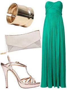 Un precioso vestido verde