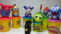McDonalds Happy Meal 7 Surprise PlayDoh Toys Home Minion Dragon Batman
