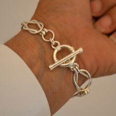 Pulsera de eslabones de plata nudos marineros por Untwistedsister