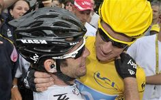 Bradley Wiggins and Mark Cavendish at London 2012 Olympics