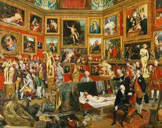Johan Zoffany - Tribuna of the Uffizi - Johann Zoffany pinta a un grupo de ingleses en Roma durante el Grand Tour, unidos sólo por su riqueza y amor al arte; a diferencia de la mayoría de conversation pieces, esta no fue una obra de encargo.