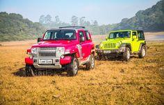 Troller T4 e Jeep Wrangler (Foto: Renato Durães)