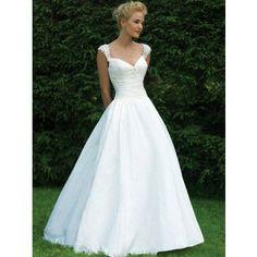 Elegant Duchesse Lang Natürliche Taille Brautkleider Kirchliche Trauung